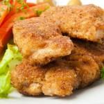 Pohana piletina s rižom
