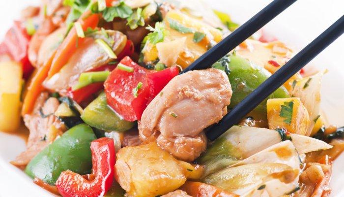 puretina s povrćem iz woka
