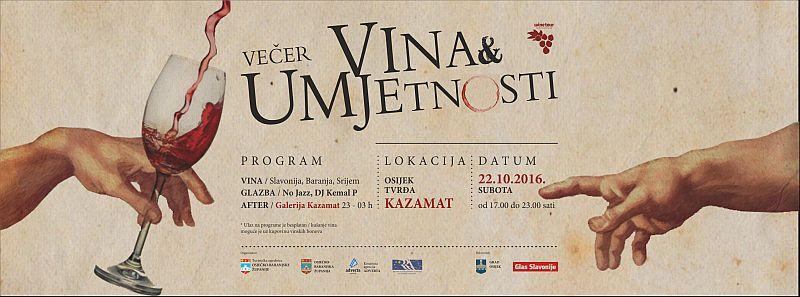 vecer vina i umjetnosti program