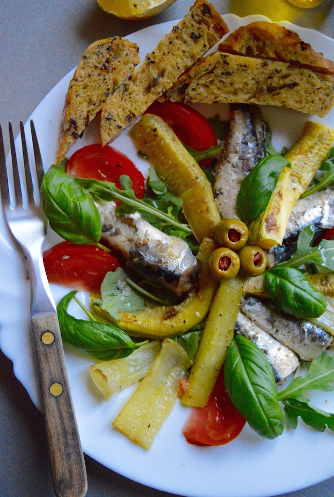 sardine i tikvice salata