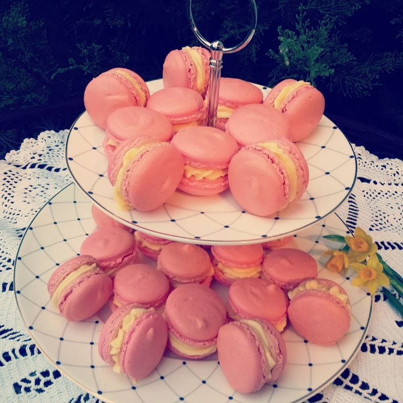 macarons od limuna i jagode