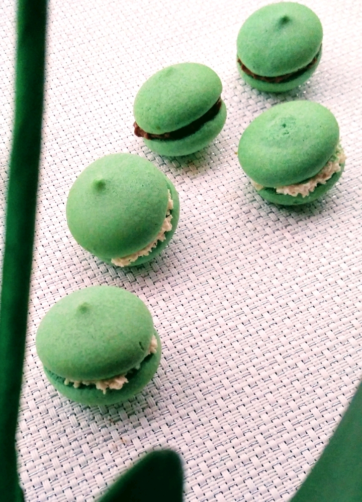zeleni matcha aquarons